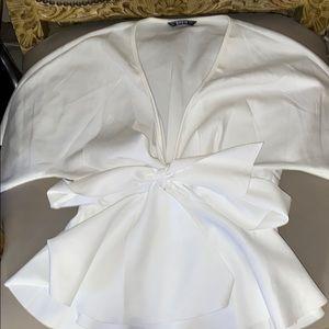 Tie short sleeve top